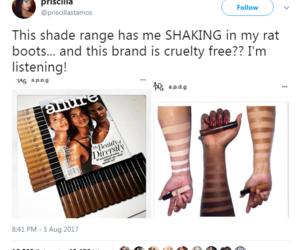 makeup, woc, and melanin image