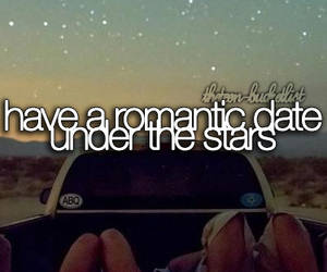 date, romantic, and stars image