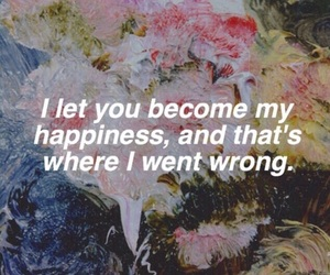 quotes, happiness, and sad image