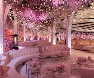 pink, luxury, and wedding image