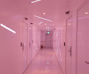 pink, aesthetic, and door image