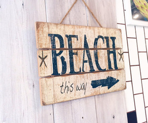 beach, summer, and theme image