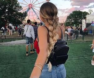 braid, summer, and hair image