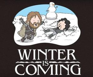 winter, game of thrones, and jon snow image