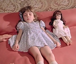child, doll, and girl image