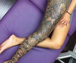 ass, leg, and leg tattoo image