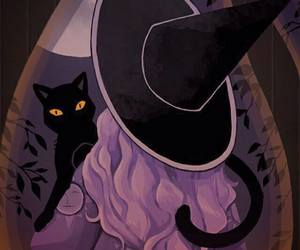 witch and cat image