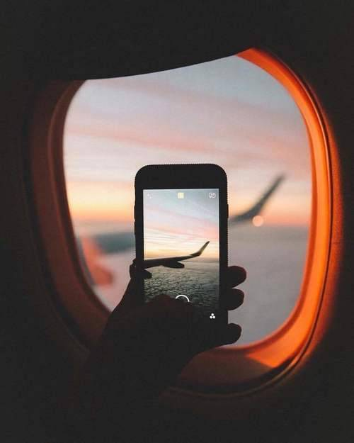 airplane, photography, and travel image