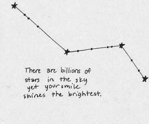 quote, smile, and stars image