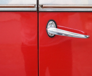 door handle, red, and vintage cars image