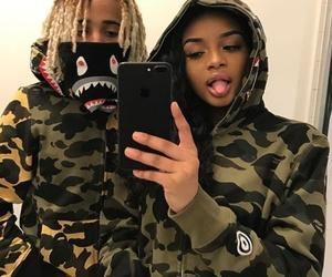 couple, bape, and style image