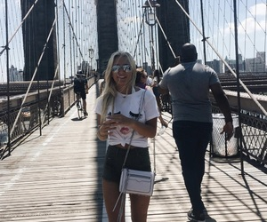 brooklyn bridge, girl, and inspiration image