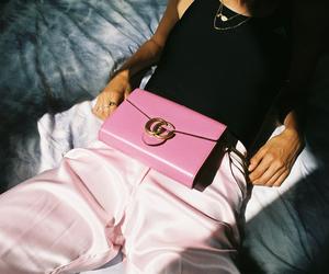 bag, handbag, and pants image