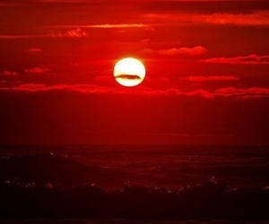 red, sunset, and photography image