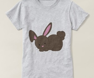 bunny, cute animals, and graphic tees image