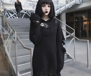 goth, doll, and gothic image