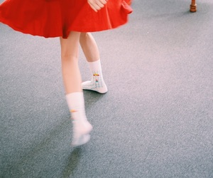 japan, red, and skirt image