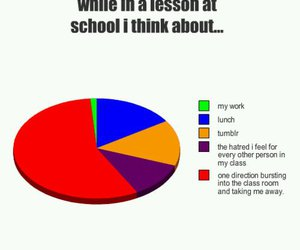 one direction, 1d, and school image