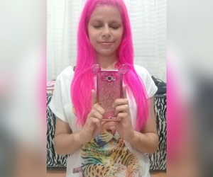 cabelo, pink, and rosa image