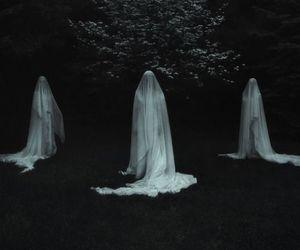 ghost, dark, and white image