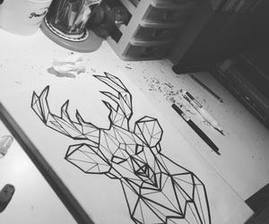 blackandwhite, draw, and geometric image