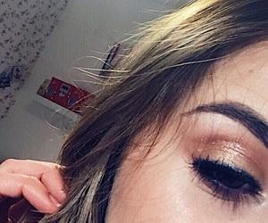 brow, girl, and eye image
