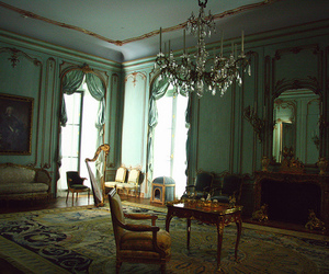room and chandelier image