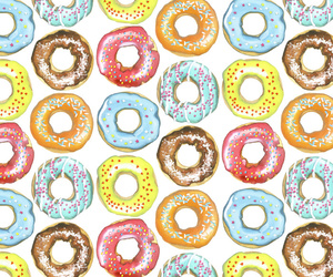 pattern, donuts, and illustration image