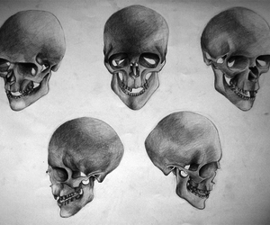death, drawing, and head image