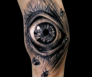 eye, tattoo, and ink image