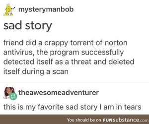 scan, funny tumblr post, and crappy torrent image