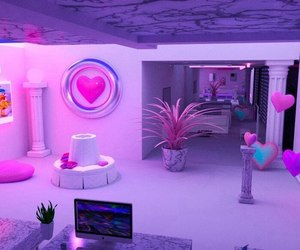 purple, room, and neon image