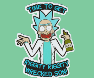 rick and morty, rick sanchez, and riggity wrecked image