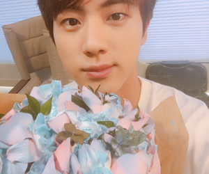 army, jin, and bts image