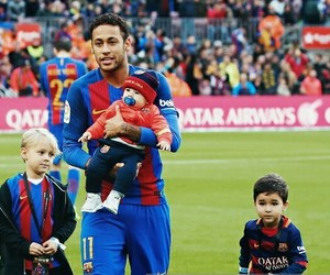 baby, Barcelona, and fans image