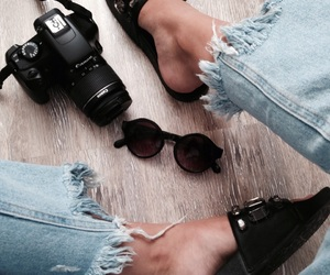 camera, canon, and jeans image