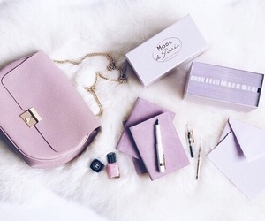 purple, lilac, and purse image