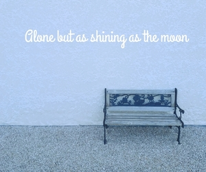 alone, blue, and moon image