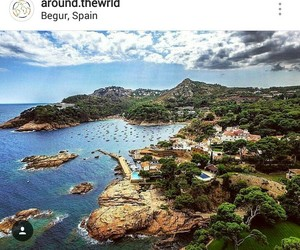 sea, spain, and begur image