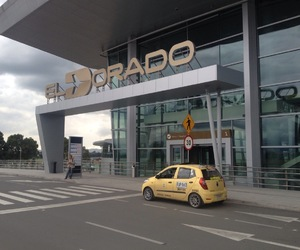 airport, colombia, and journey image