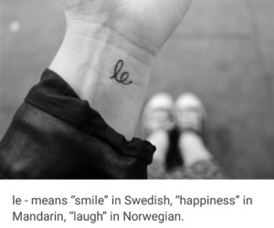 tattoo, happiness, and laugh image