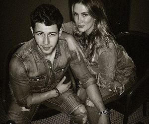 nick jonas, relatioship goals, and delta goodrem image