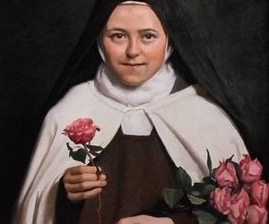 Catholic, santa, and roses image
