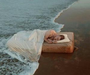 beach, boy, and sleep image