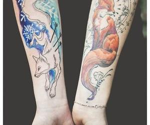 fox, tatoo, and tattoo image