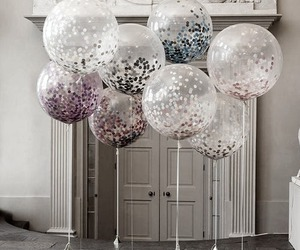 balloons, pretty, and glitter image