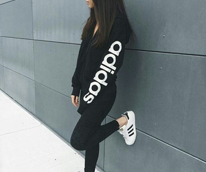 adidas, black, and sport image