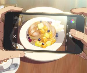 anime, pancakes, and food image