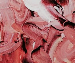 art, paint, and pink image