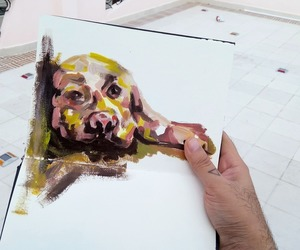 art and dog image